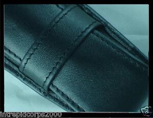 New Authentic Cross Black Full Grain Italian Leather Pen Case for 1 or 2 pens