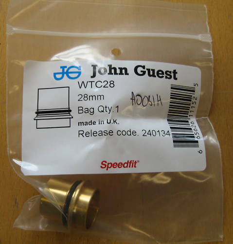John Guest de 28 mm Trampa De Agua Convertidor Aire Accesorio wtc28