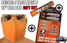 Orange Face Mask Bar Pad Stocking Gift Set fits KTM 505 SX-F 07-09