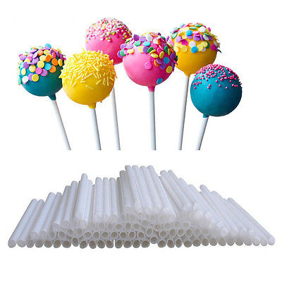 100x Food Sucker Sticks Chocolate Cake Lollipop Sweet Candy Making NEW