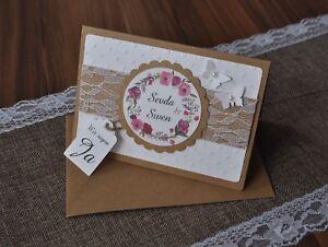 Einladungskarte Einladung Einladungen Hochzeit Inkl Umschlag