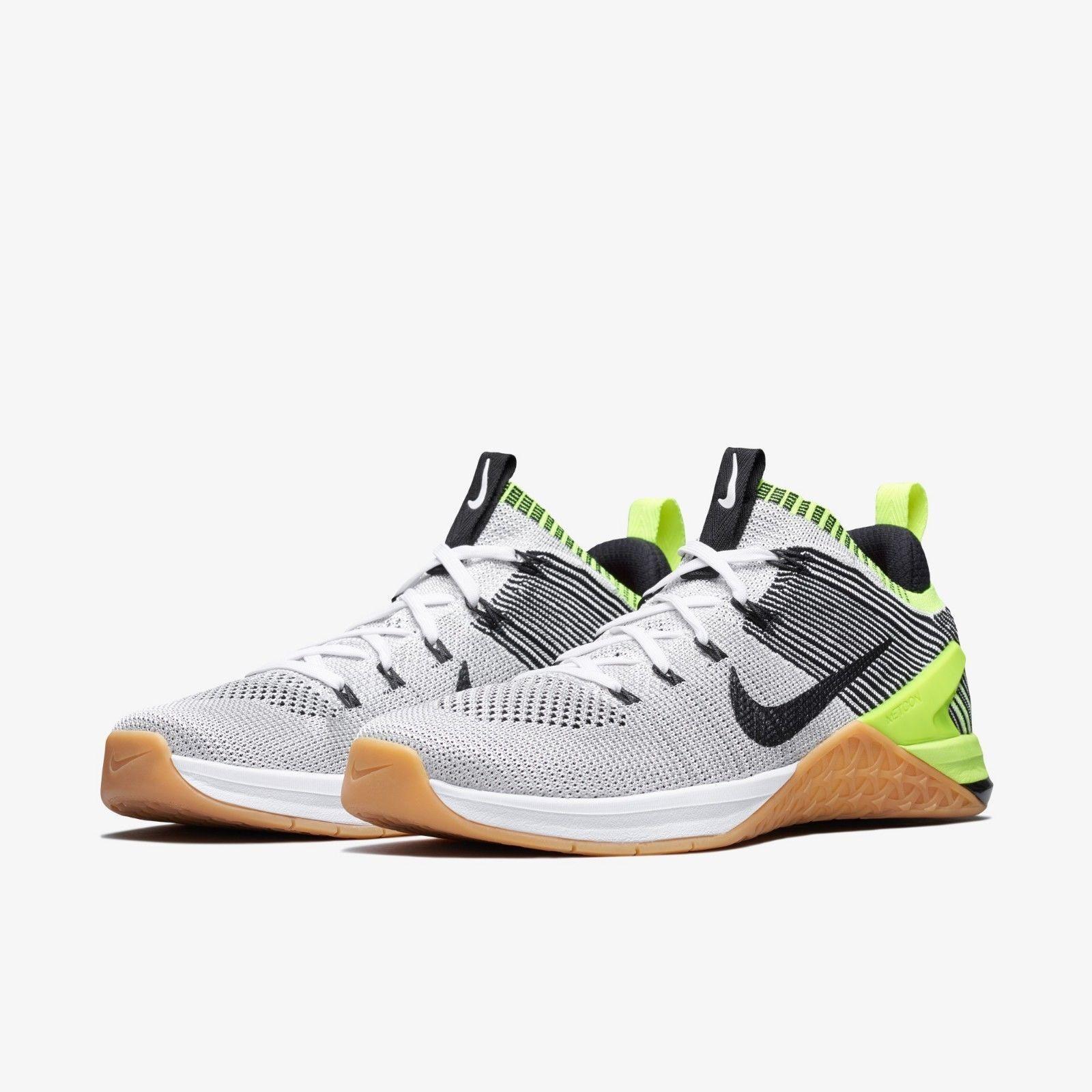 Nike Men's Metcon DSX Flyknit 2 Training Volt White Black Gum Training 2 sz 9 [924423-107] 0d992d