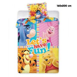 Copripiumino Singolo Winnie The Pooh.Dettagli Su Copripiumino Winnie The Pooh Disney Sacco Copripiumone Singolo 160x200cm