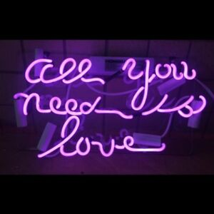 13 All You Need Is Love Neon Light Sign Home Decor Handcraft Lamp