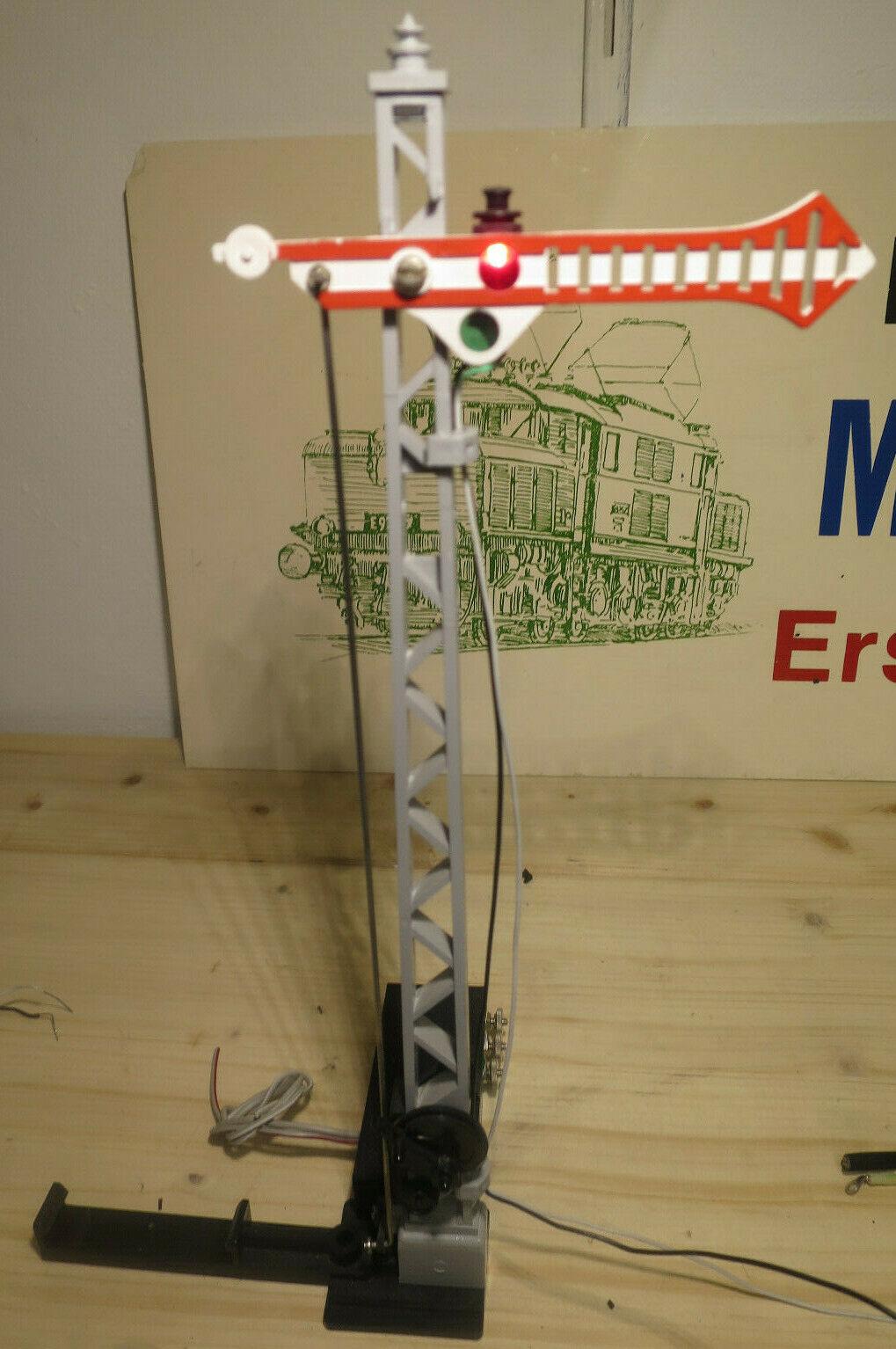 I10 4) LGB Escala G Señal 5030 con Eléctrico Motor & Iluminación Probado