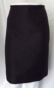"""TAHARI"" BLACK TEXTURED SHIMMER CASUAL CAREER STRAIGHT PENCIL SKIRT SIZE: 12 NWT"