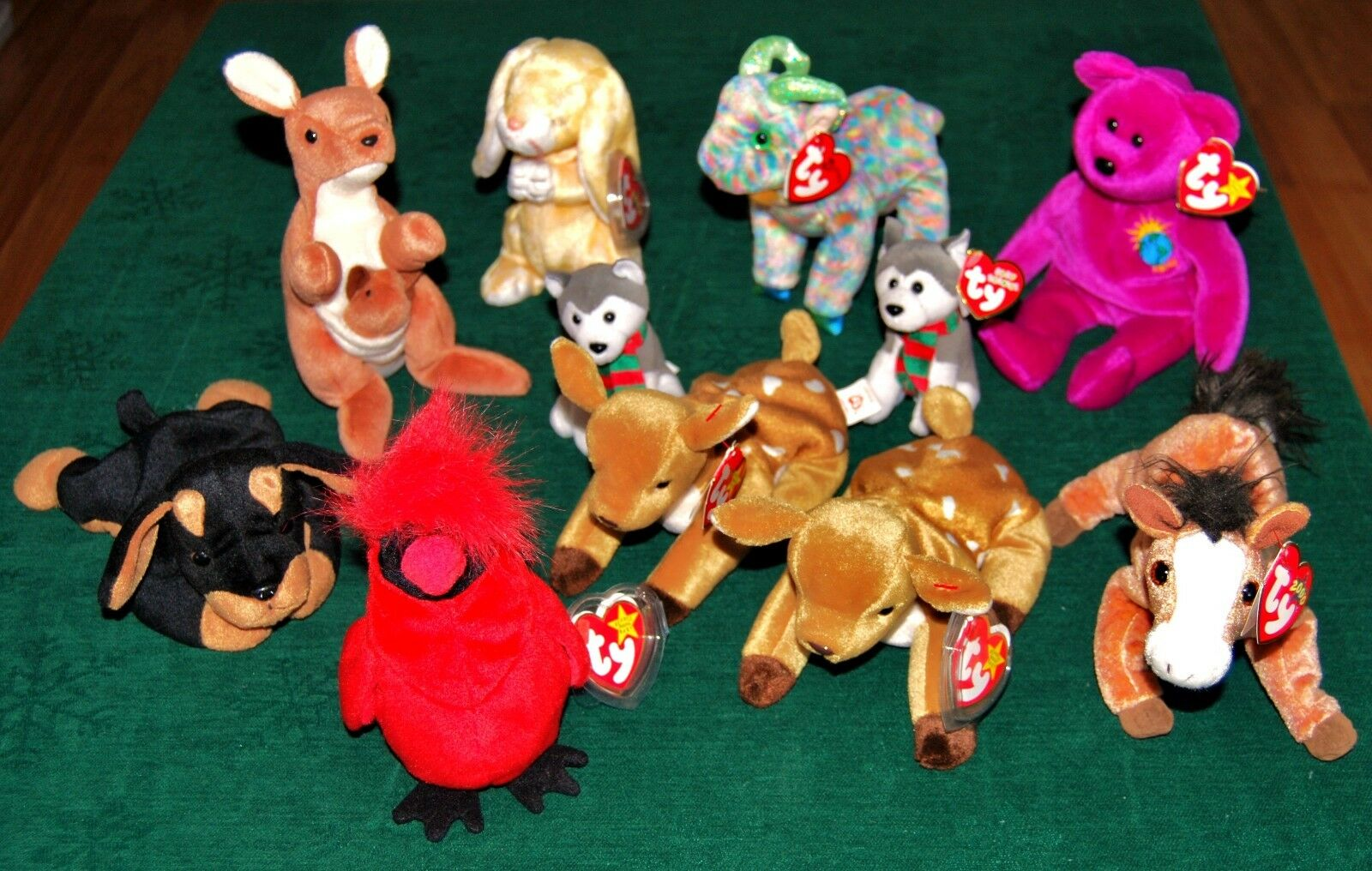 Ty BEANIE BABIES LOT OF 11, ALL IN GREAT CONDITION, GOOD DEAL