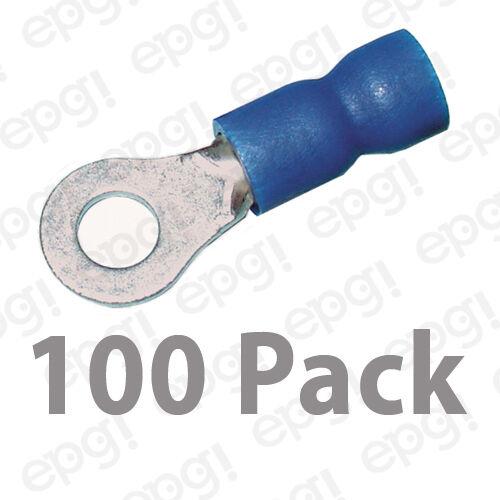 RING TERMINAL VINYL #8 BLUE 16-14 GAUGE #107A-100PK