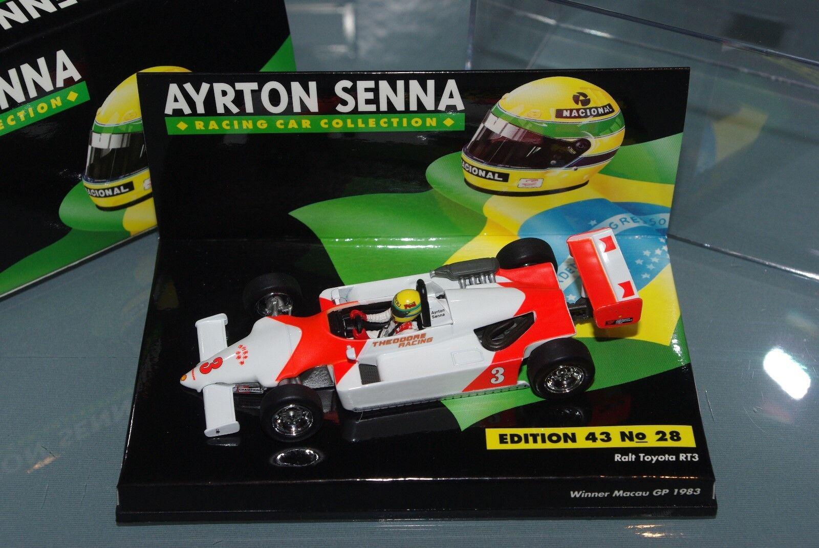 Minichamps F3 1 43 RALT TOYOTA RT3 WINNER MACAU GP 1983 SENNA COLLECTION  28