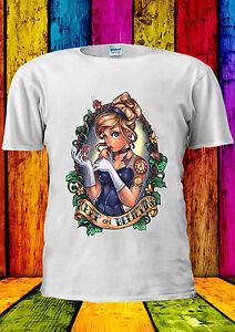 Disney-Princess-Cinderella-The-Tatto-T-shirt-Vest-Tank-Top-Men-Women-Unisex-134