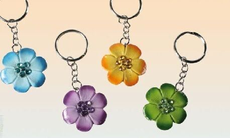 Schlüsselanhänger als Blume Blumenanhänger Blüte  NEU rar