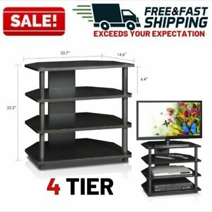 Audio-Component-Rack-Home-Tower-Media-Stereo-Television-Stand-Equipment-Shelves