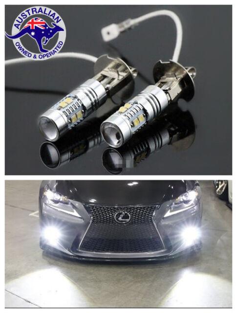 2 X 2019 H3 CAR UTE 4WD LED CREE XBD HEADLIGHT FOG DRIVING LIGHT BULB LAMP GLOBE