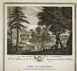 """Annibale Carracci """"procession Du St Sacrement """" Gravure François Ed Couché 1786 Pour Classer En Premier Parmi Les Produits Similaires"""