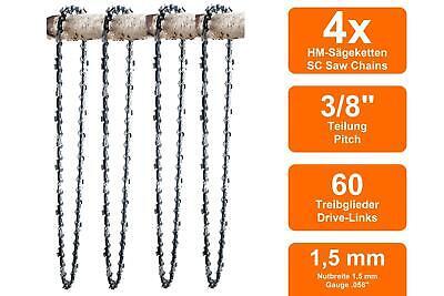 """2 chaînes Adapté Pour Jonsered 2035 40 cm 3//8/"""" 60 TG 1,5 mm chaine de tronconneuse Épée"""