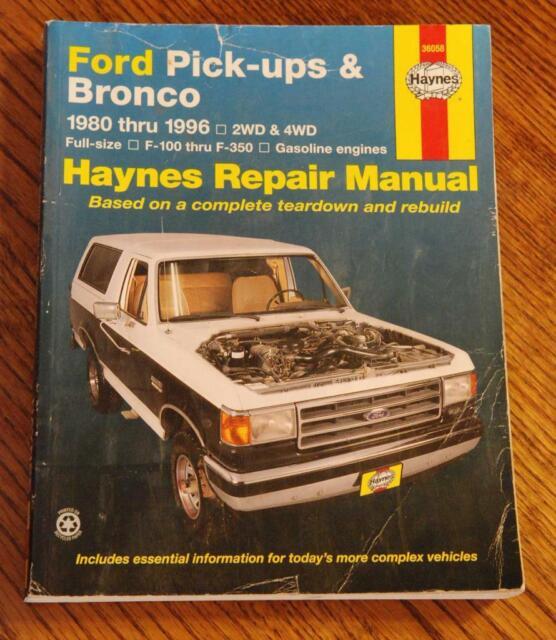 Haynes Repair Manual 80