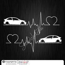 0640 | Herzschlag Astra G 3-Türer  Satz Aufkleber | Sticker Opel OPC GSI