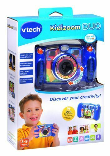 Duo Vtech Kidizoom Camera bluee New Digital 2 Kids Lenses Zoom Colour Gift