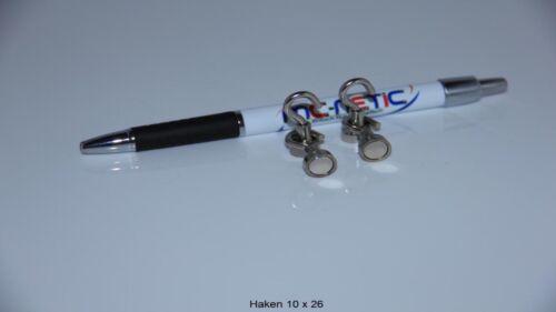 10 Stück Neodym Magnethaken Haken Magnete 10 mm vernickelt Stahl sehr stark