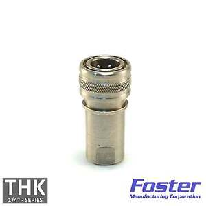 """Foster FHK Series 1/4"""" H2S/S Stainless Steel ISO B Hydraulic Quick Coupler Plug"""