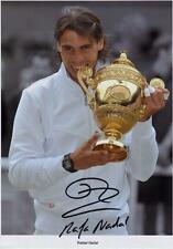 RAFAEL NADAL AUTOGRAPHED SIGNED A4 PP POSTER PHOTO