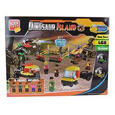 468-Piece DINOSAUR ISLAND PARK Building Blocks Bricks w Mini Figures Toy Xmas