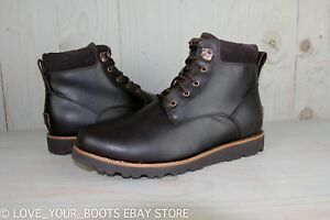0552efa171a Details about UGG SETON TL STOUT WATERPROOF LEATHER LACE UP SNOW BOOTS MENS  US 13 NEW