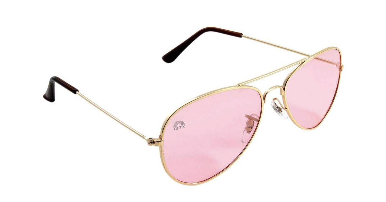Rose Aviator Mood-Boosting Sunglasses with Protective Chakra Bag