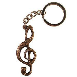 schlüsselanhänger notenschlüssel 6 cm bronze | ebay