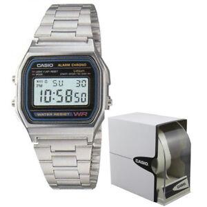 Orologio-Casio-Vintage-Retro-Digitale-Luce-Crono-A158WA-1DF