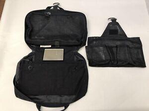 Details About Ed Bauer Black Nylong Hanging Toiletry Esstentals Travel Bag