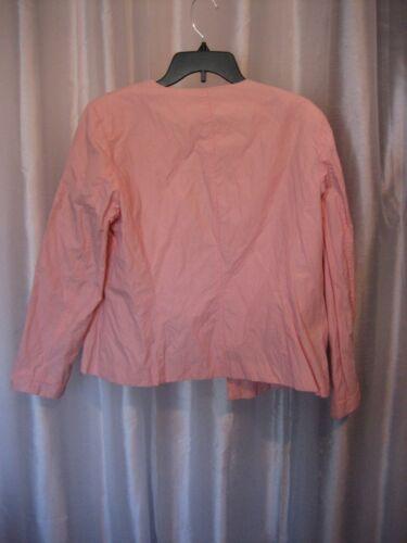 Pre 40 Sz Open Cotton Chico's Kvinders Pink owned 2 Front Jacket Blush Lined 0PaFwxACq