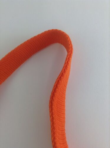 Foldover Trim BTY --FO101 Russet Color Knitted Foldover Braids Bright Orange