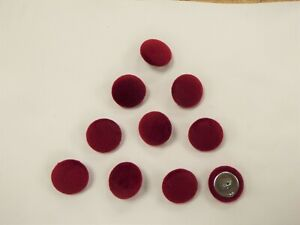 Crushed Velvet 24L//15mm Claret Upholstery Fabric Covered Buttons Red//Wine