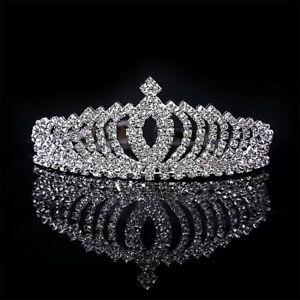 Bridal-Wedding-Rhinestone-Crystal-Tiara-Hair-Band-Princess-Prom-Crown-Headband