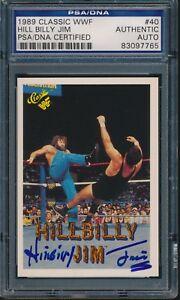 1989-CLASSIC-WWF-HILL-BILLY-JIM-HILLBILLY-JIM-SIGNED-AUTO-CARD-40-PSA-DNA