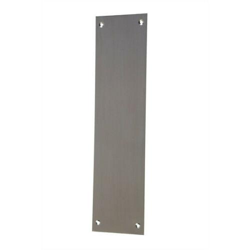 """12/"""" X 3/"""" Chrome Satin Steel Office Door Hygiene Easy Wipe Finger Hand Plate New"""