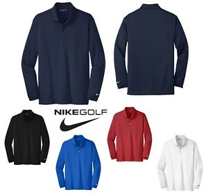 Dodge win Friday  MEN'S NIKE GOLF LONG SLEEVE, DRI-FIT POLO SHIRT, SIDE VENTS, LIGHTWEIGHT XS- 4XL | eBay