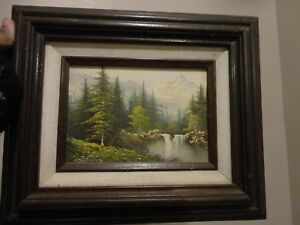 Signed Original Oil Painting Landscape On 5 X 7 Canvas Framed Hecho