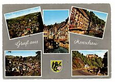 Gruss aus Monschau Postcard Germany Eifel Region Castle Hills Posted 1961 Vintag