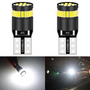 2-Veilleuses-LED-W5W-T10-Canbus-ANTI-ERREUR-BLANC-XENON-6000k-6-SMD-voiture-moto
