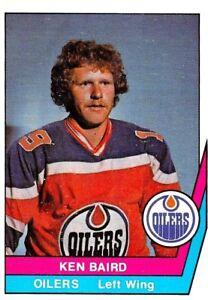1977-78-O-Pee-Chee-WHA-46-Ken-Baird-Edmonton-Oilers-ROOKIE-Hockey-Card