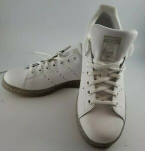 Details about Adidas Womens Size 7.5 Stan Smith Glitter Sole Fashion Sneaker Kids Size 6 White