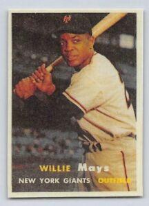 1957-WILLIE-MAYS-Topps-034-REPRINT-034-Baseball-Card-10-NEW-YORK-GIANTS
