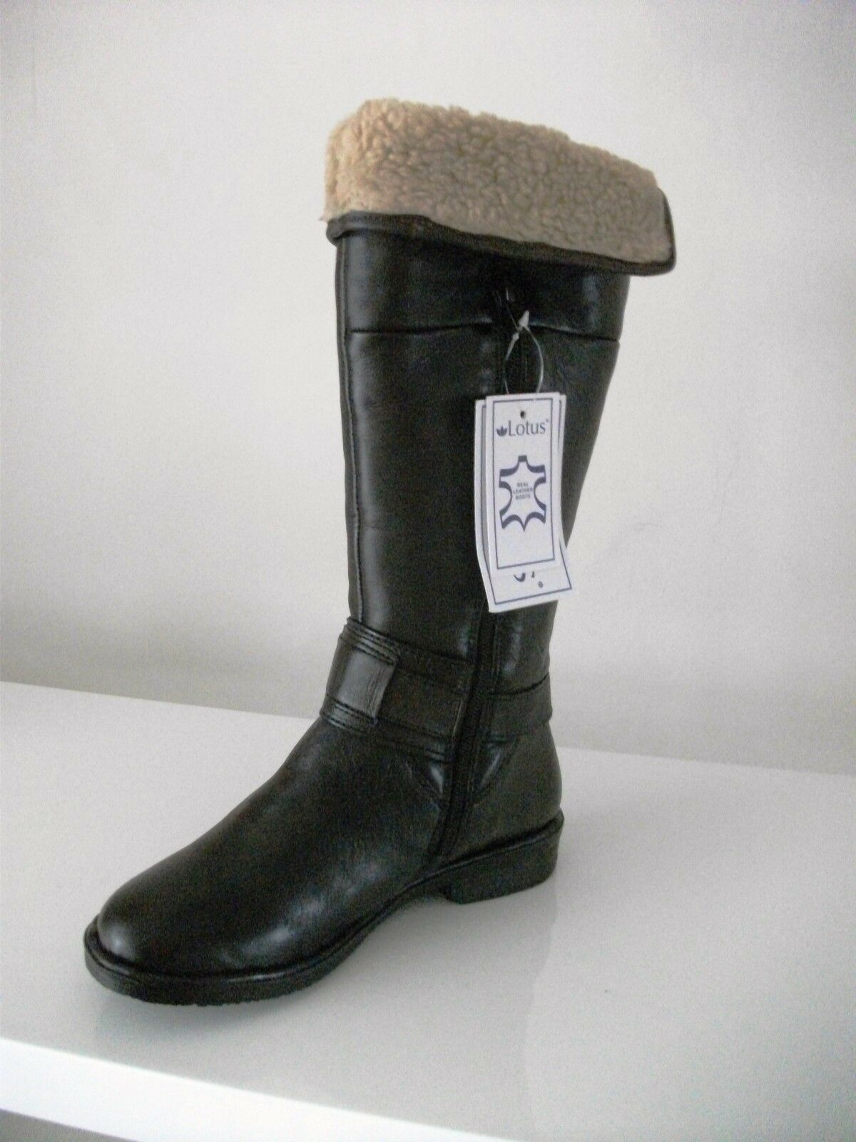 Lotus Length Calf Length Lotus Leder Stiefel Style Manson 40033  In Braun Only 01a482