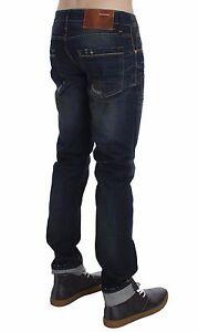 NUOVI-Jeans-180-aaatt-Lavaggio-Blu-Cotone-Denim-Slim-Fit-Pantaloni-Uomo-W34-IT48