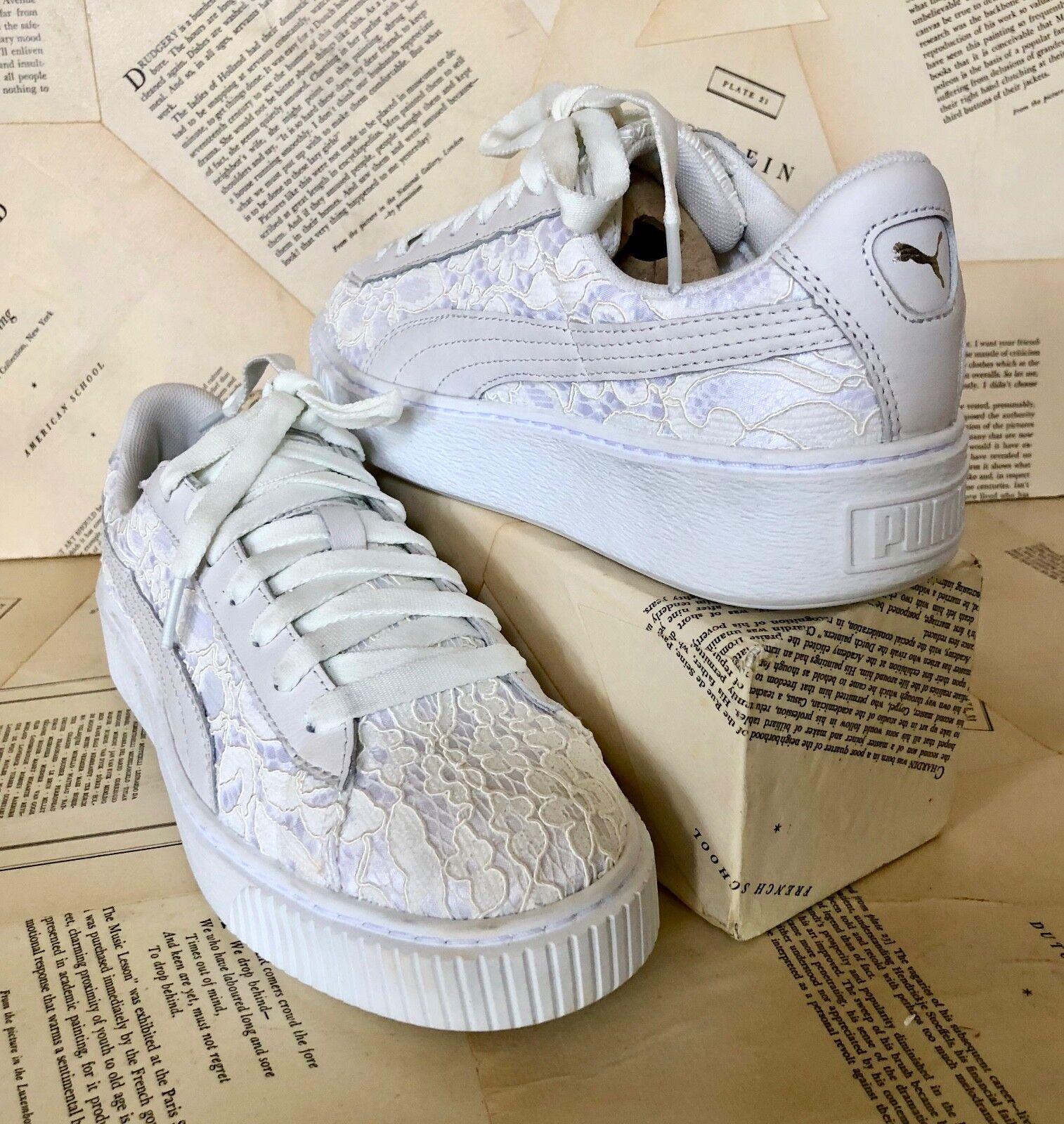 NEW Anthropologie Puma Weiß ivory Platform Floral 10 Lace Sneaker 41 / 10 Floral c5d6cb