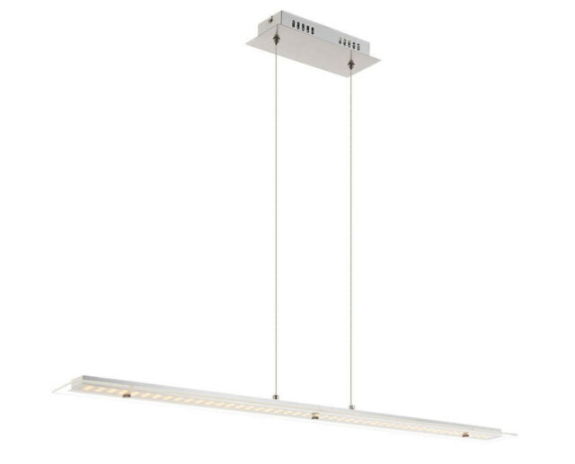 Led Chrome and Glass Hanging Ceiling Light