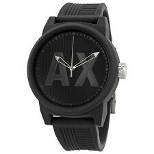 Armani Exchange ATLC Black Silicone Strap Mens Watch AX1451