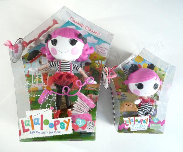 Lalaloopsy Charlotte & Sherri Charades BRAND NEW 1 Full Size 1 littles Doll BNIB
